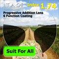 Взрослый 1.74 Freeform Индекс Прогрессивные Мультифокальные Дополнение Оптический Рецепт Объектив Очки Для Очков С 6 Функция Покрытие