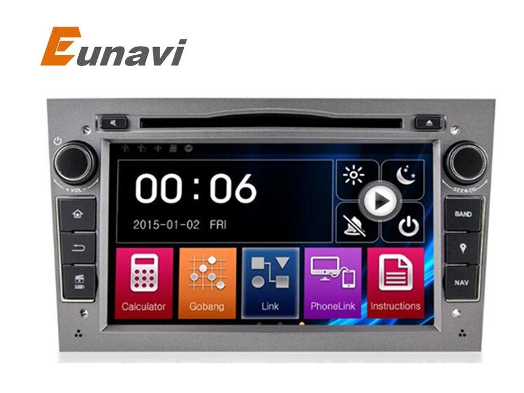 Eunavi 2 Din 7 Pollici Car DVD Player Per Vauxhall/Opel/Antara/VECTRA/ZAFIRA/Astra H G J Canbus FM di Navigazione GPS BT Mappa Gratuita