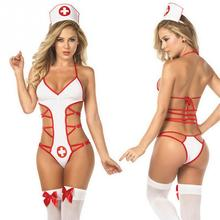 Women Cosplay Sexy Nurses Uniform Lingerie Sexy Hot Erotic lingerie Halloween Costume Role Play erotic underwear