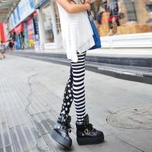Ladys Girls Fashion Sexy Lady Womens Stripe Star Skinny Slim Stretchy High waist Trousers Leggings Pants Female Leggins
