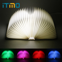 ITimo USB Book Table Lamp Creative Lights Foldable Pages LED Book Shaped Night Light Holiday Birthday