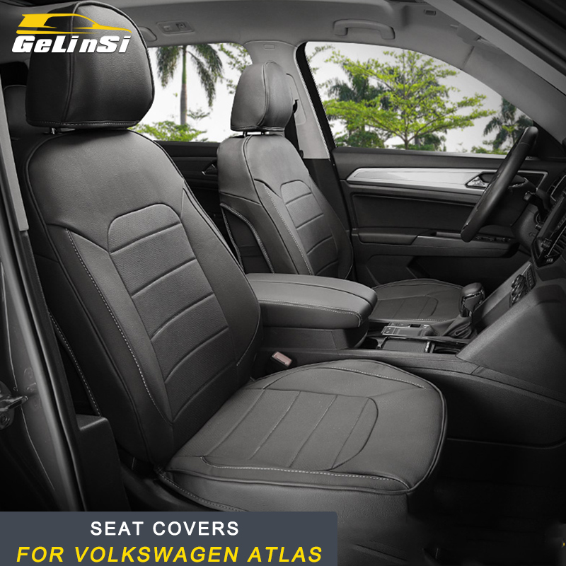 GELINSI Car Seat Covers Interior Accessories Stickers For Volkswagen Atlas 2017 2018 Car