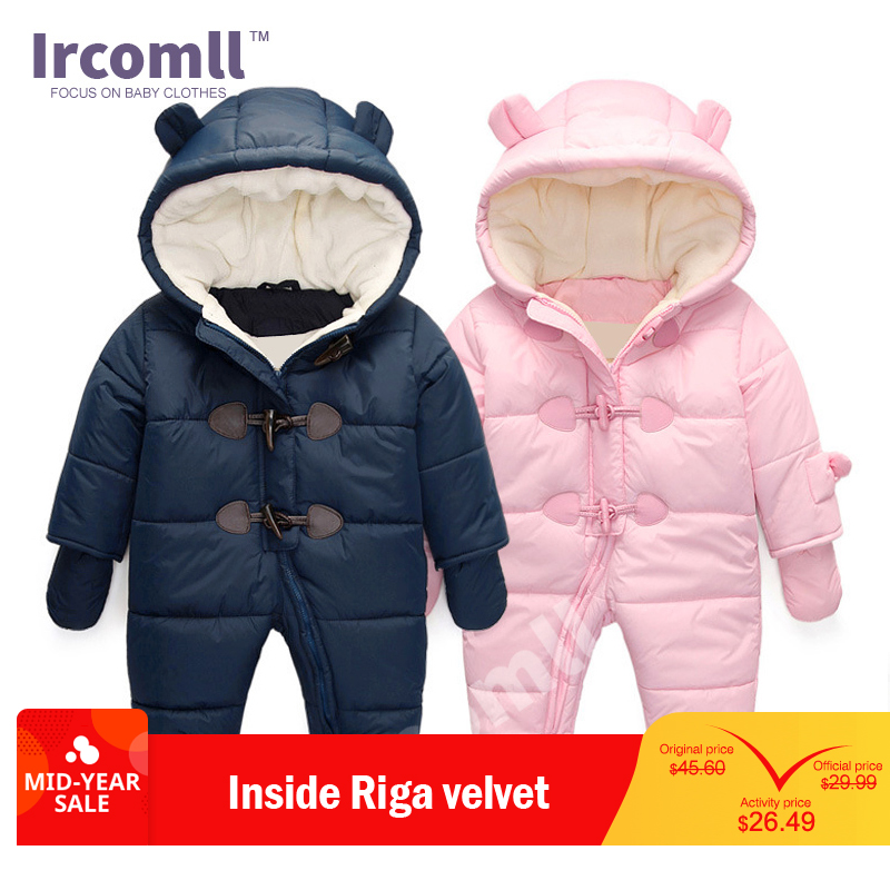 lrcoml Keep Thick warm Infant baby rompers Winter clothes Newborn Baby Boy Girl Romper Jumpsuit Hooded  Kid Outerwear  For 0-24Mlrcoml Keep Thick warm Infant baby rompers Winter clothes Newborn Baby Boy Girl Romper Jumpsuit Hooded  Kid Outerwear  For 0-24M