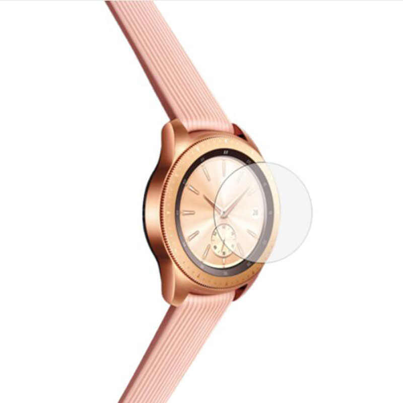 الزجاج المقسى واضح طبقة رقيقة واقية حماية لسامسونج غالاكسي ساعة 42 مللي متر 46 مللي متر Smartwatch عرض واقي للشاشة غطاء