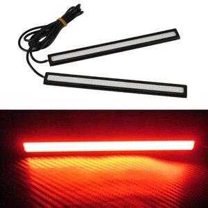 2pcs17CM Супер Яркий Универсальный COB светодиодный дневный ходовой фонарь для автомобилей, поворотный светильник, противотуманная фара для вож...