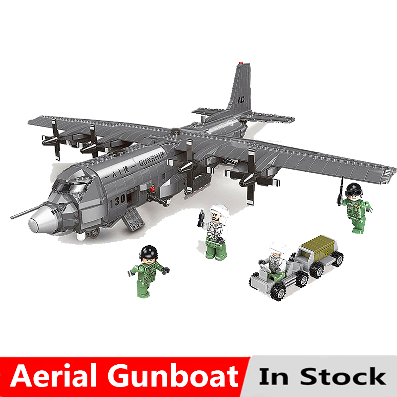 Military Series The AC130 Aerial Gunboat Kit Model Set Building Blocks Bricks Compatible With Legoingly Toys For Children KidsMilitary Series The AC130 Aerial Gunboat Kit Model Set Building Blocks Bricks Compatible With Legoingly Toys For Children Kids