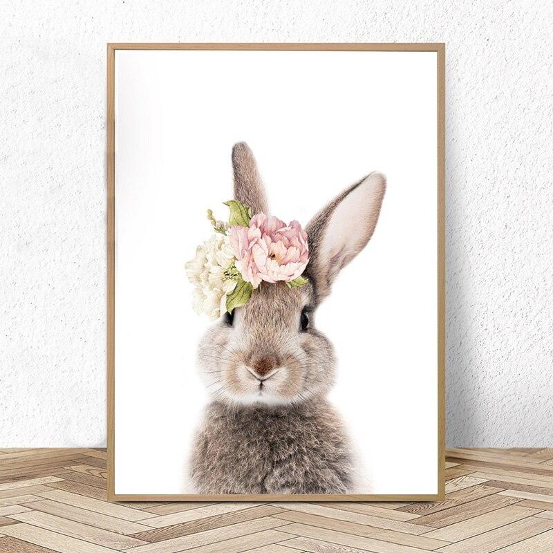3 Personalised Bunny Rabbit Nursery Prints Kids Baby Room Wall Art Decor