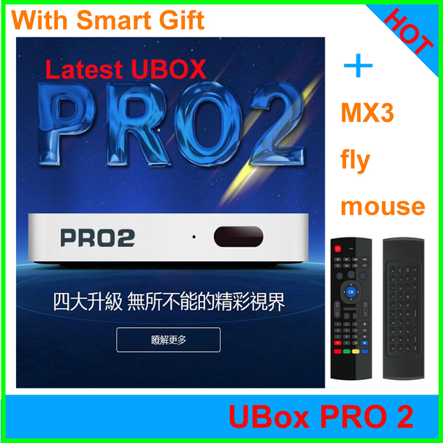 [Chính Hãng] Bỏ Cấm UBOX Pro2 có Bluetooth Android TV HD Box 1 + 16G 8 hỗ trợ 1000 + chns Smart TV Box miễn phí trọn đời cho Trung Quốc