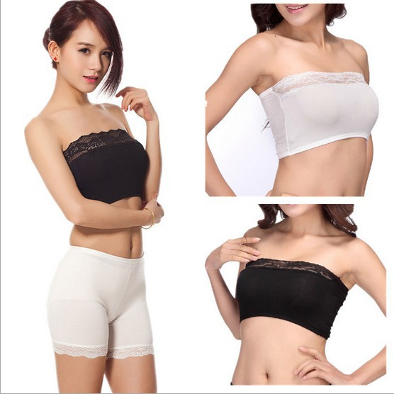 Aliexpress.com : Buy Fashion Girls Lace Chest Wrap Stretch Boob ...