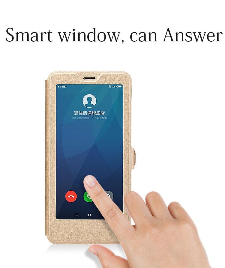 Smart window hard flip leather case for xiaomi redmi 5 plus 5a note 5 5a pro 6 6a 6 pro 04