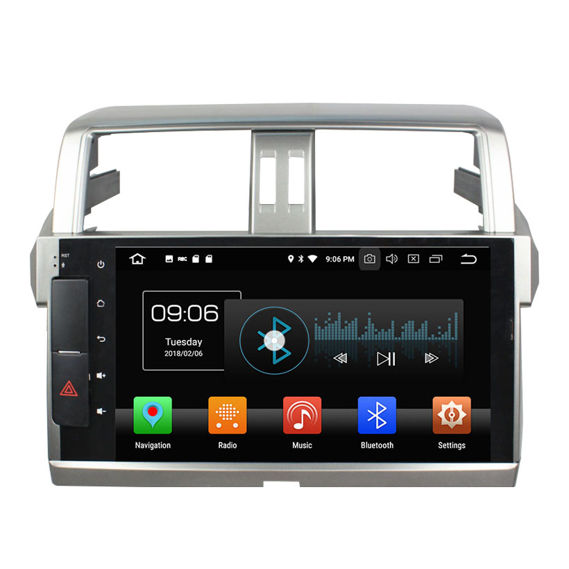 KANOR Android 8.0 Octa núcleo 4 + 32g 2 din Car GPS Radio Player Para Toyota Prado 2014 2015 unidade Central de Rádio de áudio Bluetooth WI-FI