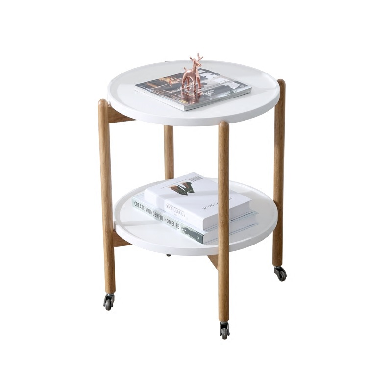 Miraculous Us 248 0 Minimalist Modern Small Round Creative Little Tea Table Household Table Mobile Receive 2 Layer Wooden Multi Function Little Cart In Coffee Machost Co Dining Chair Design Ideas Machostcouk
