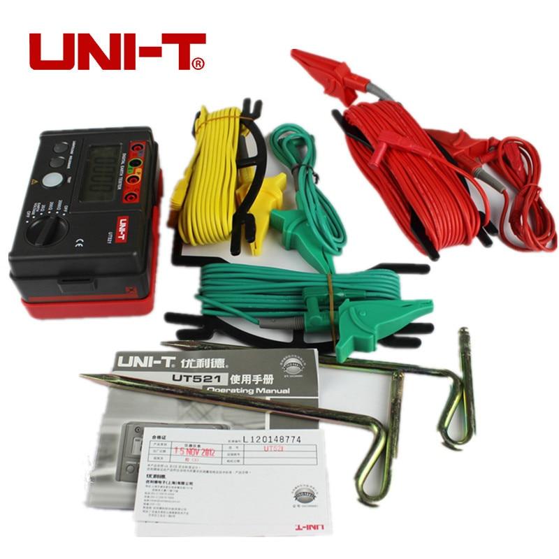 UNI-T UT521 LCD Digital Aterramento Resistência Medidor de Tensão Tester 0-200 V 0-2000 ohm