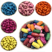 Jewelry Accessories Findings Fashion DIY Necklace Bracelet Making Loose insect Shape Beads 50PCS, Wooden beads 15x8mm