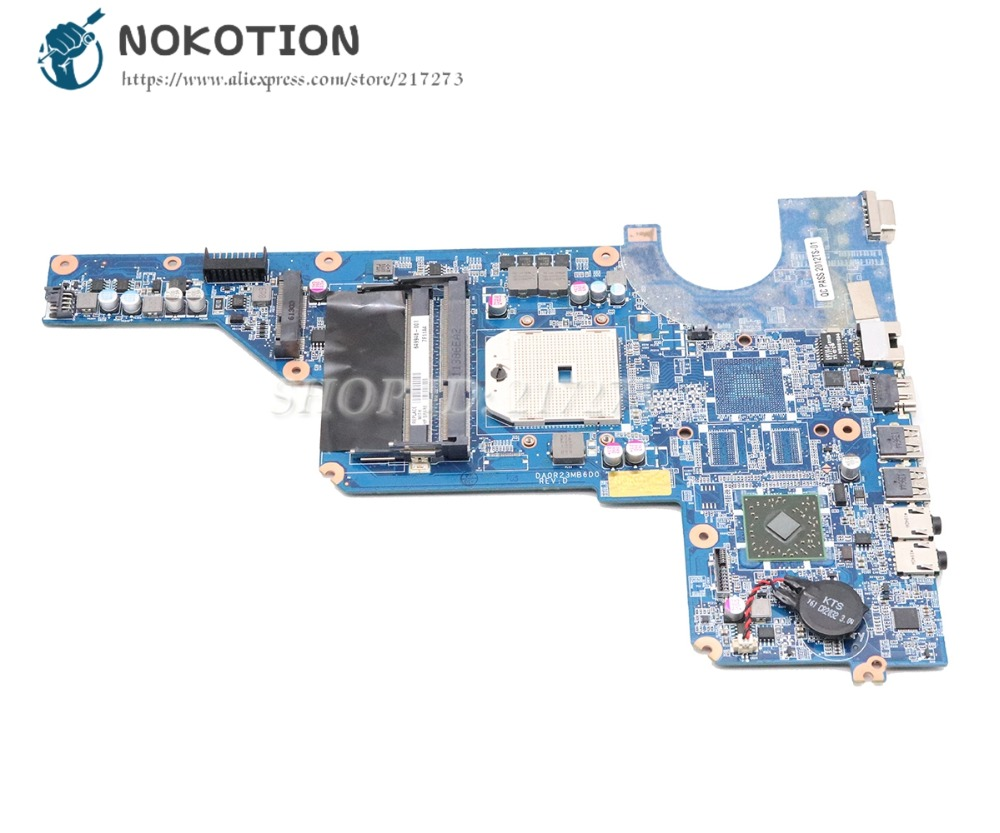 NOKOTION DA0R23MB6D0 649948-001 For HP Pavilion G4-1000 G6-1000 G7 G4 G6 Laptop Motherboard Socket FS1 DDR3