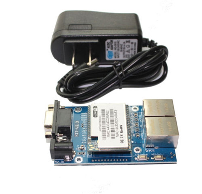 Q14081 RS232 Internal/Built-in Antenna WiFi Module with HLK-RM04 Test Boar+ FreePost narrow band 470m rs232 2w antenna with hpd8507e 470 rs232 wireless transceiver module