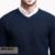 Mens moda Otoño Suéteres Con Cuello En V Masculina Invierno Suéteres Ropa de Hombre A Cuadros de Punto Slim Fit Ropa de Marca