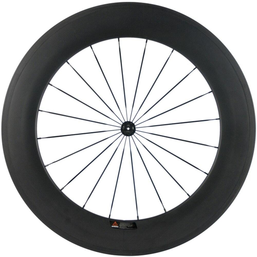 700C Carbon Fiber 88MM Road Bike Wheels Front Wheel Clincher Wheelset U Shape Rear Wheel 25mm
