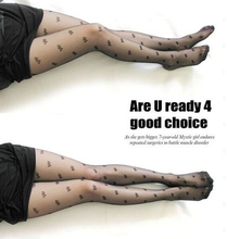 Fashion Sexy Women Lace Core Wire Jacquard Thin Black Silk Stockings Slim Tights 11 Styles