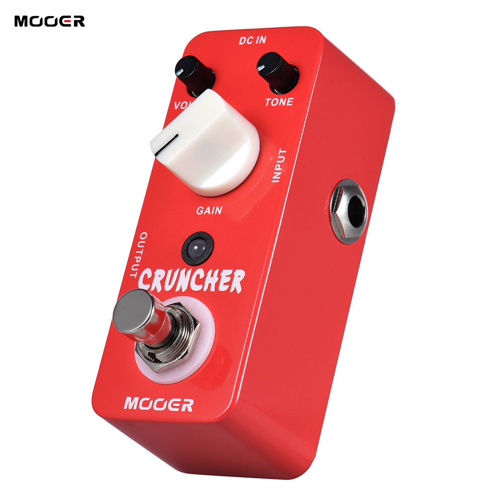 MOOER CRUNCHER High Gain Distortion Guitar Effect Pedal True Bypass Full Metal Shell Guitar Parts Accessories