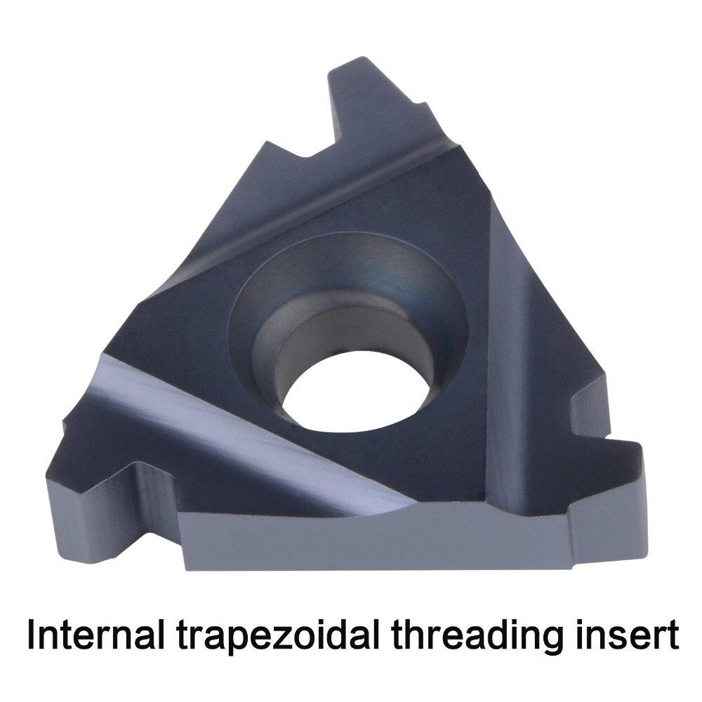 Купить с кэшбэком CNC thread carbide insert 11IR 16IR 16ER 22IR 22ER 27IR ER internal extenal threading insert 30 trapezoidal lathe thread tool