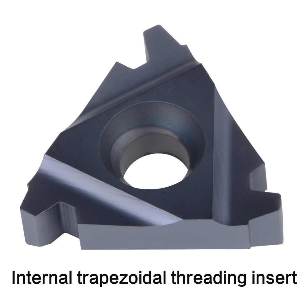 Inserto de rosca de carburo 11IR 16IR 16ER 22IR 22ER 27IR 27ER inserto de roscado interno y extenal herramienta de roscado trapezoidal