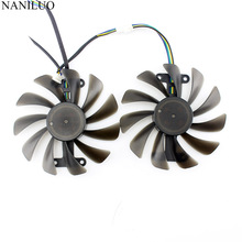 2pcs/lot Video cards fan GTX1070 GPU Cooler For ZOTAC GeForce GTX 1070 AMP Edition Graphics Card cooling as Replacement