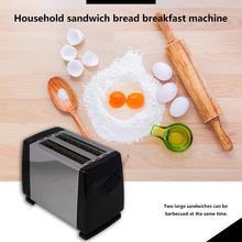 750 Вт автоматический тостер 2 ломтика 6-ступенчатая тостер Нержавеющая сталь вкладыш подкладка сэндвич завтрака машина для дома