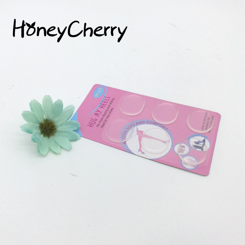 Wholesale Transparent Jelly Silicone Round Stick Arbitrary Affixed Wear Free Stickers Affixed To The Foot Heel