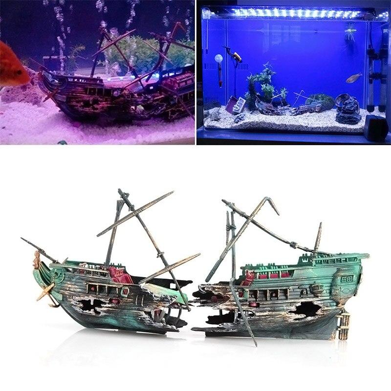Aquarium Decorations Boat
