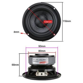 4 Inch Woofer Subwoofer Speaker Unit HIFI 4ohm 40W 2
