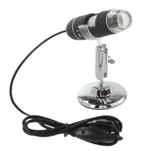 цена на 1000X 2MP Electronic USB Digital Microscope Inspection Camera Magnifier with 8 LEDs and Metal Stand