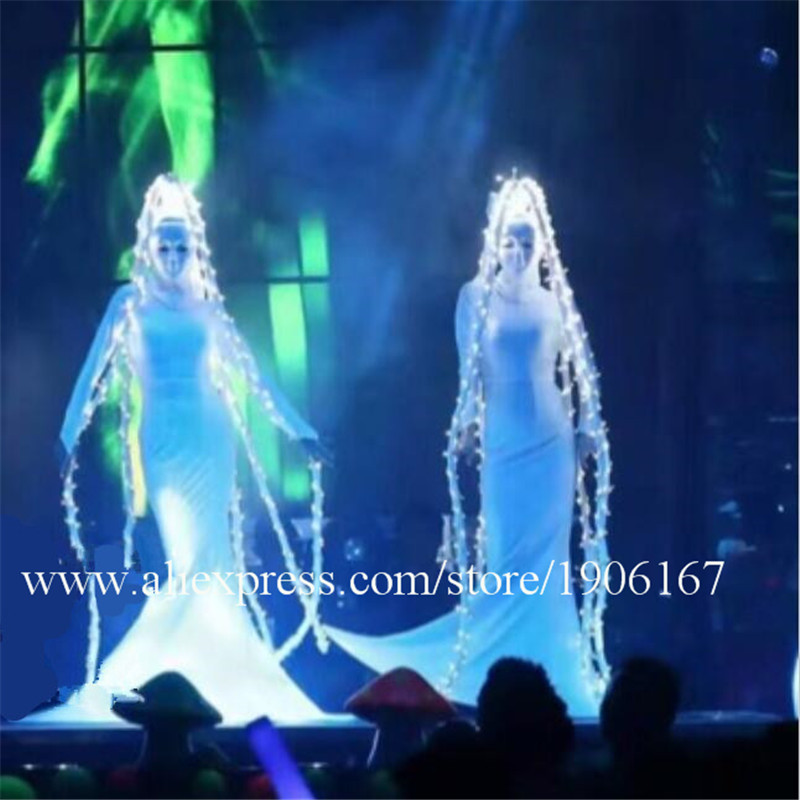 Party show dance team gogo silver team costumes female songs female Dj guest costumes0