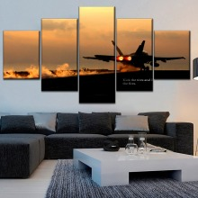 Plane F18 Takes Off painting on canvas Modern Decor HD Print Painting 5 Piece Canvas Art poster Room