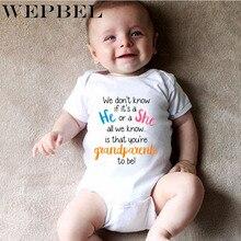 WEPBEL Newborn Baby Boys Girls Romper Bodysuit Pregnancy Announcement Grandparen