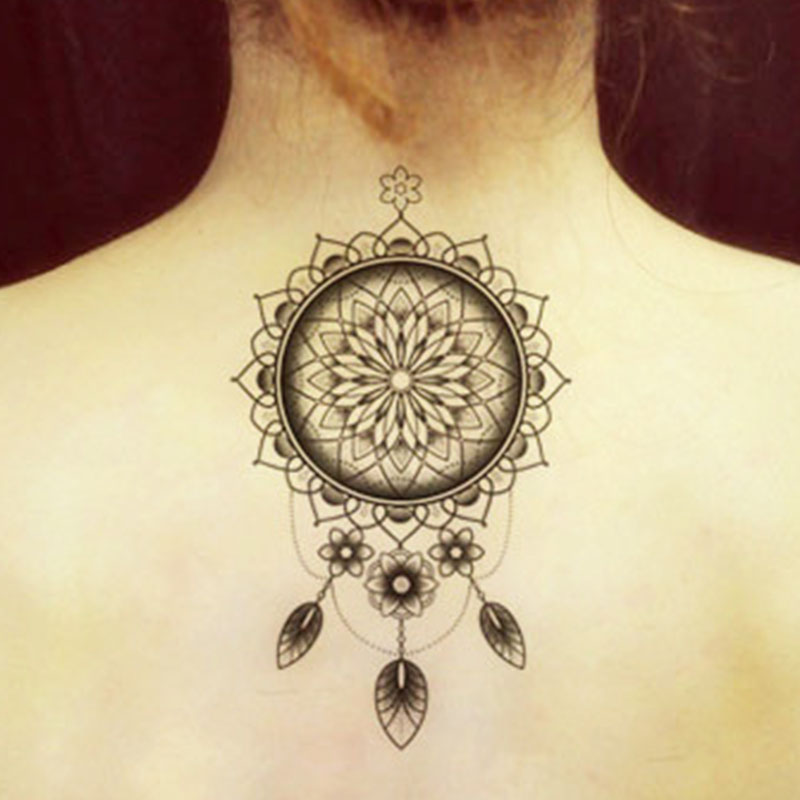 ᗗ2 Unids Tatuaje Indio árabe Falso Tatuajes Temporales Pegatinas