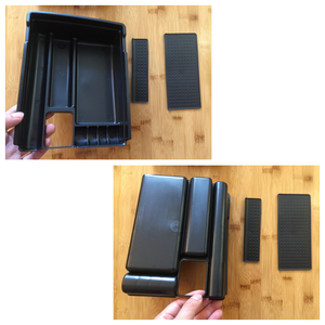 Image 5 - Voor Nissan X Trail X Trail T32 Rogue 2014   2019 Zwart Centrale Console Multifunctionele Opbergdoos Telefoon Lade accessoire