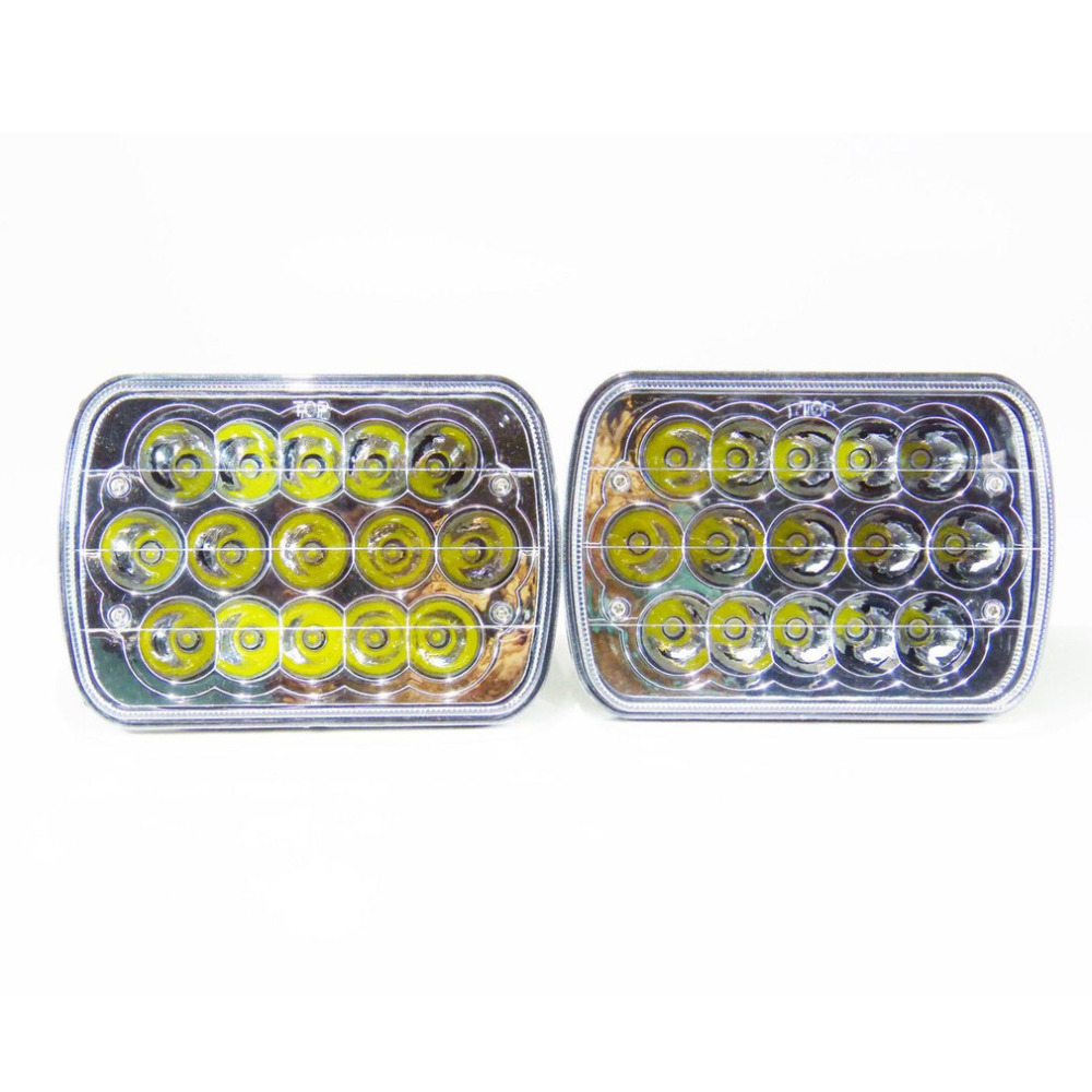ICOCO 1Pair 6x7 Car Headlight H4 LED Bulb 45W Super Bright Crystal Clear Sealed Beam Headlamp High-Low Beam Work Light