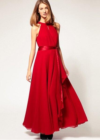 Free shipping,strapless chiffon frock long length women bohemian dress