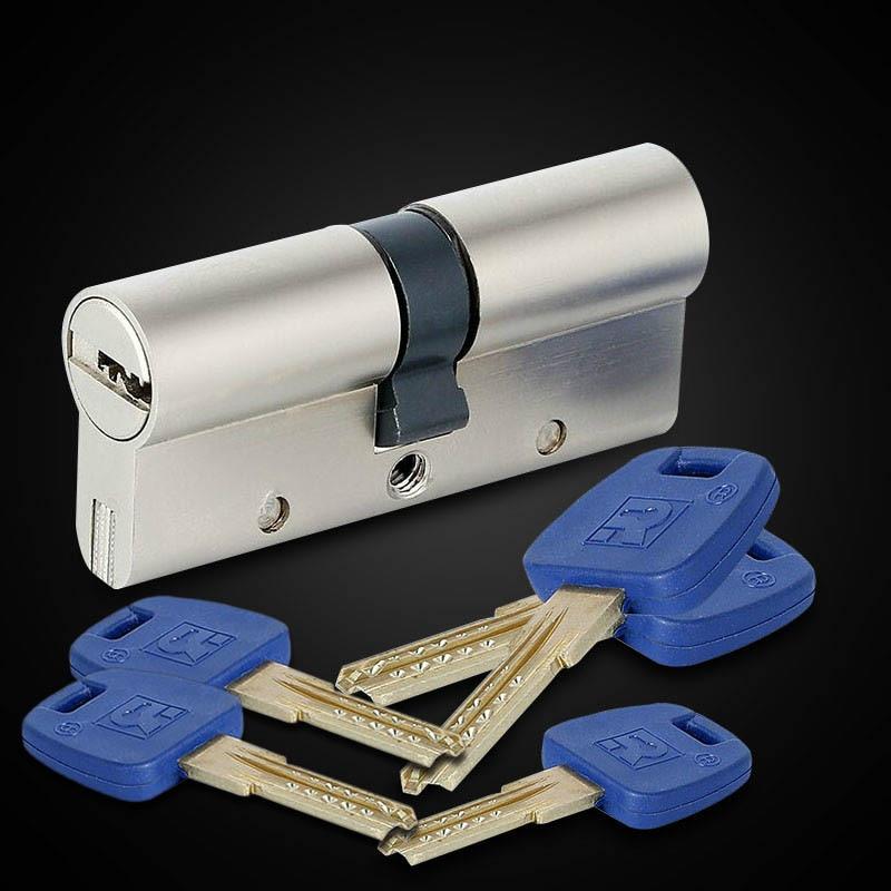 European Standard Universal Copper Lock Core Cylinder Security Door Gate Indoor Lock Core GP+ Series B 60-95mm 30/30MM-30/65MM