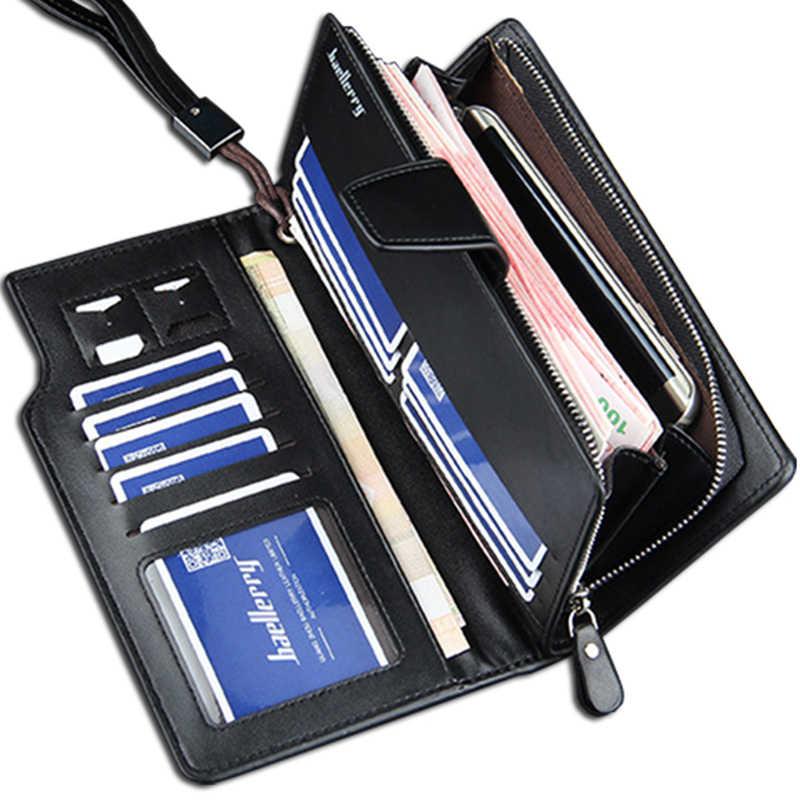 Мужские кошельки baellerry длинный стиль высококачественный держатель для карт мужской кошелек на молнии большой емкости брендовый Кошелек из искусственной кожи для мужчин