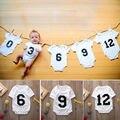 Números 3 6 9 12 Bebê Bodysuit Bebê Recém-nascido Bodysuit Playsuit Outfits Bebê Meninos Meninas Roupas de Algodão menino Meninas 0-12Months