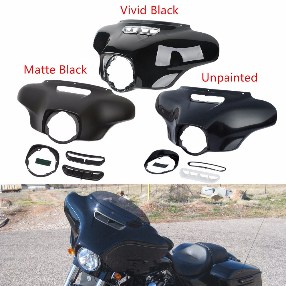 Motorcycle Front Batwing Outer Fairing Body For Harley Touring Street Glide Electra Glide Ultra Limited Tri