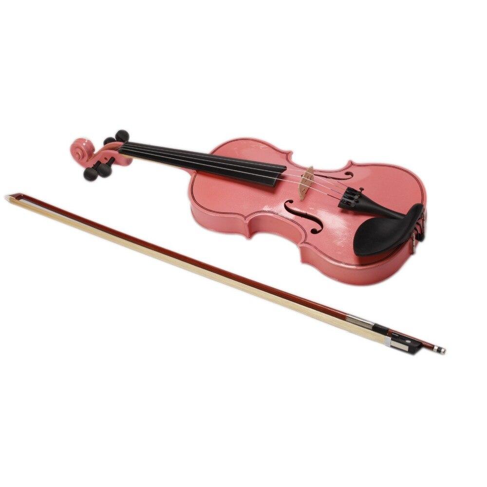 2016 high quality pink pink violin 4 4 1 4 3 4 1 2 1. Black Bedroom Furniture Sets. Home Design Ideas