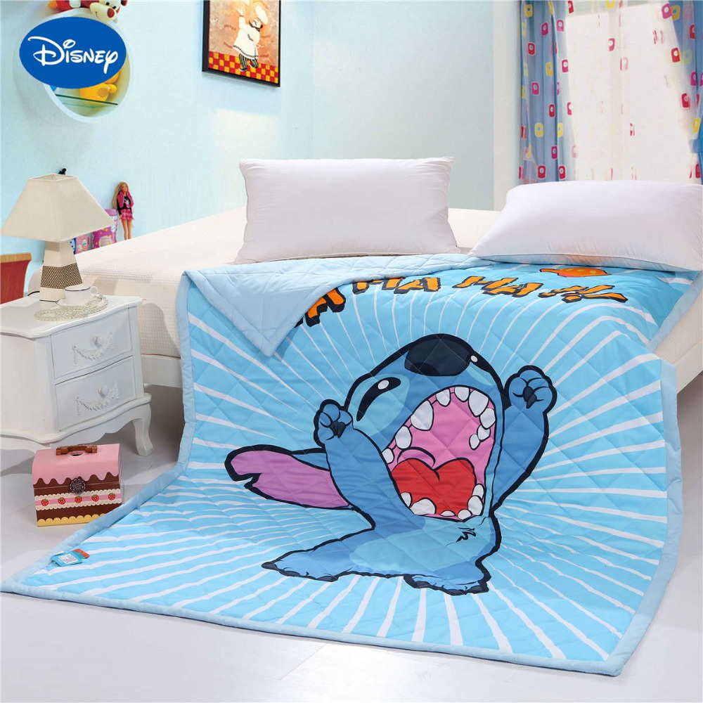 Incroyable Disney couture 3D imprimé couette couette literie coton lit écarte couverture enfants garçons enfant bébé chambre ensemble bleu doux