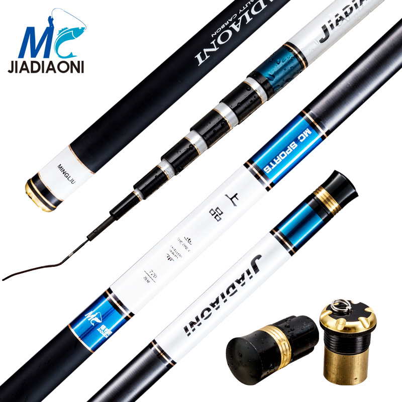 JIADIAONI 99% Carbon Fiber 3.6M 4.5M 5.4M 6.3M 7.2M Carpfishing Telescopic TaiWan Spinning Fishing Rod China Fishing TackleJIADIAONI 99% Carbon Fiber 3.6M 4.5M 5.4M 6.3M 7.2M Carpfishing Telescopic TaiWan Spinning Fishing Rod China Fishing Tackle