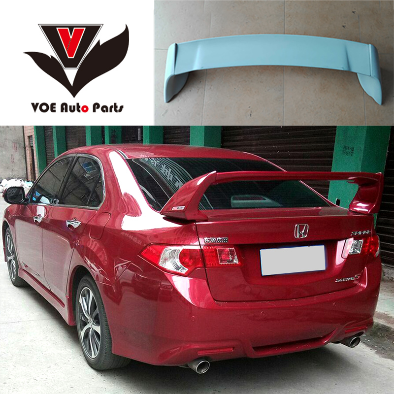 2009 2010 2011 2012 2013 Spirior ABS Plastic Unpainted Sport Style Rear Spoiler for Honda Spirior car rear trunk security shield shade cargo cover for nissan qashqai 2008 2009 2010 2011 2012 2013 black beige