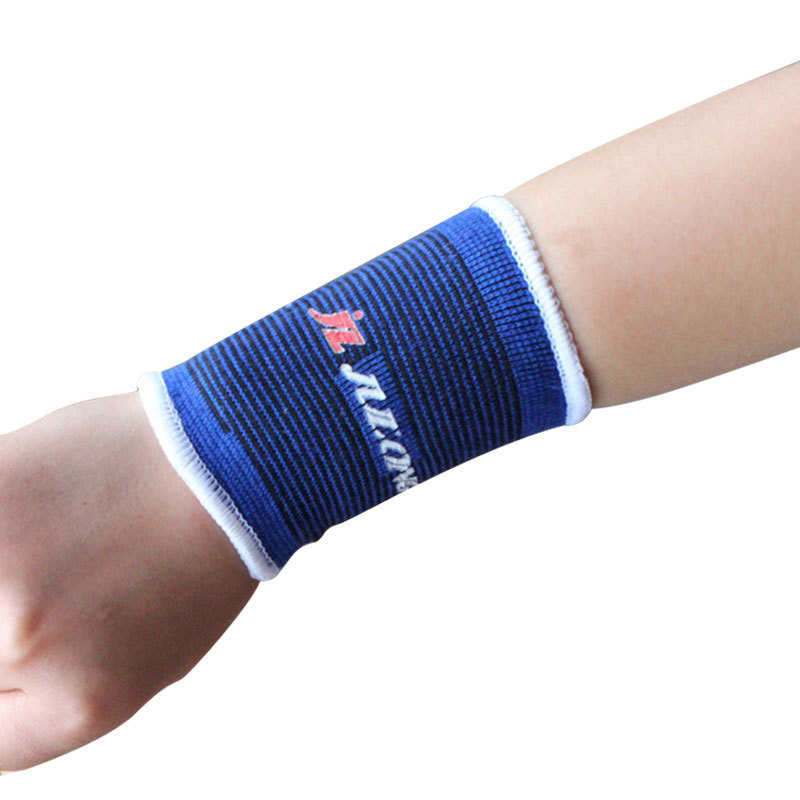 Free shipping cheap blue nylon cotton material carpal tunnel wristband sport wrist brace support protector 1 pairs=2 pieces