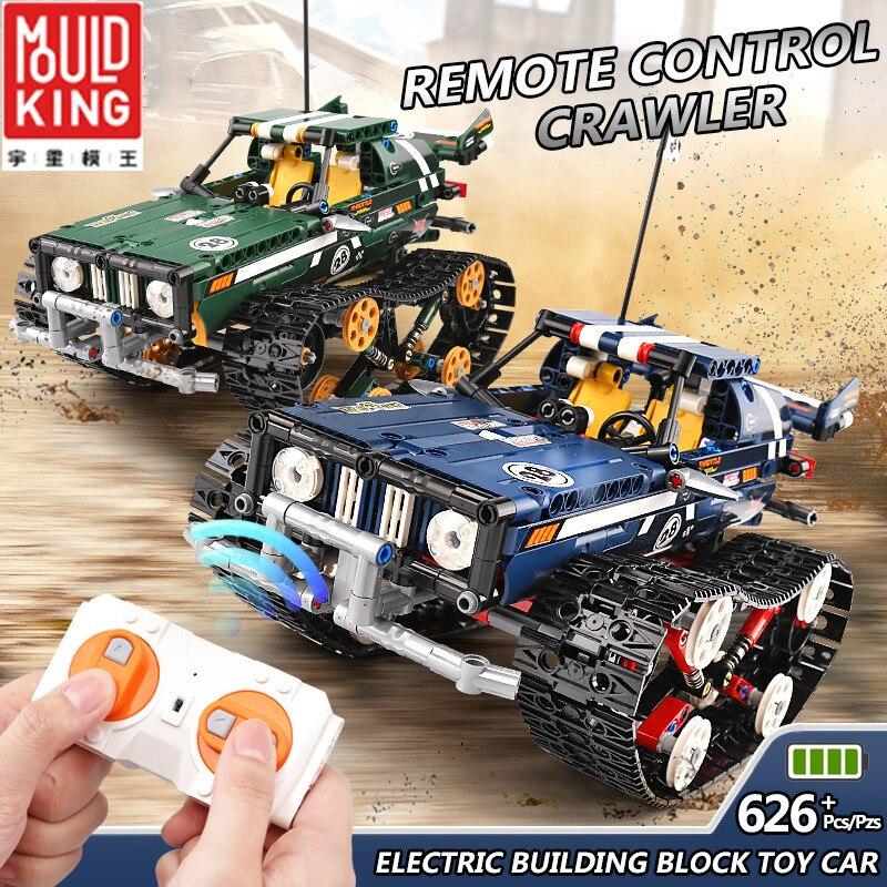 MOULD KING RC Racing Car Track Building Blocks Techinic decool MOC Crawler Enlighten Bricks tecnic piezas