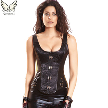 Leather steampunk clothing corset waist trainer armor corsets leather steampunk steel boned corset waist trainer straitjacket